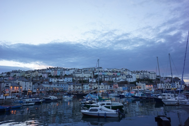Evening sky after sunset in Brixham