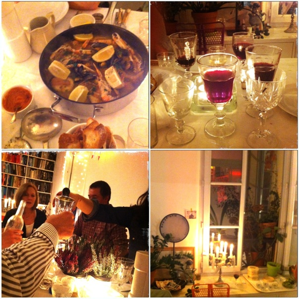 Good food, great wine to match every dish and wonderful company inside a beautiful French flat