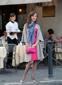 Enjoying dressing up in Rome
