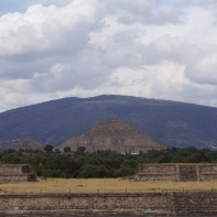 Teotihuacan with its impressive pyramids dating back nearly 2000 years