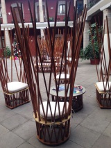 Chairs at our Hotel Cortes in Mexico City
