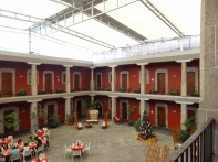 Hotel Cortes in a colonial building kept many of each original features