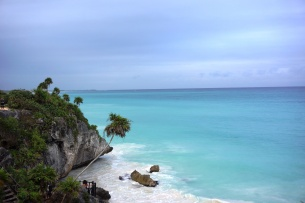 The most incredible colour of the sea in Tulum
