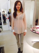 New shirt in dusty pink - perfect for spring