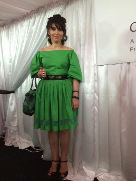 A beautiful friend of family in Ulyana Sergeyenko dress