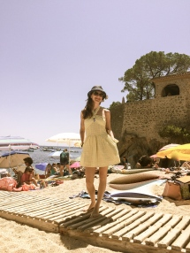 On the beach in Cataluña
