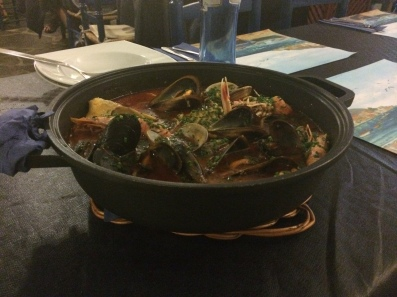 Delicious seafood stew in Cadaquez