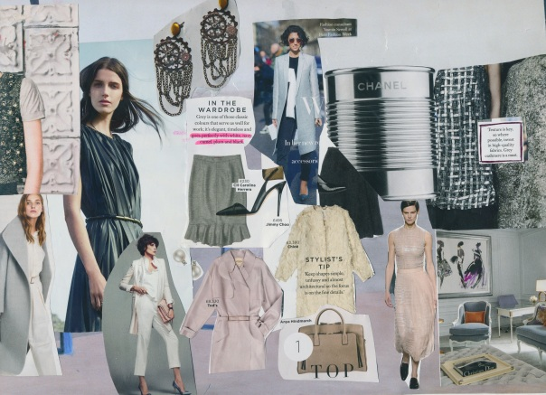 Style moodboard - greys and pastels