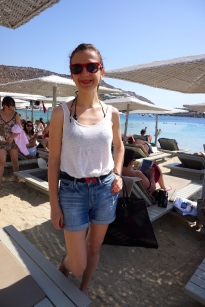 Relaxed Mykonos beach style